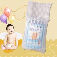 Empacotamento do pó de leite do bebê com o saco da coluna de ar