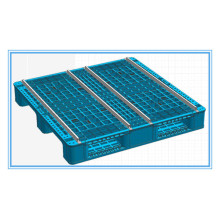 Heavy Duty Single Faced Plastic Pallet 1200X1000mm for Rack Storage