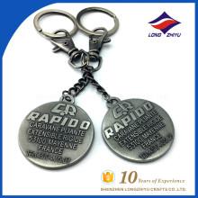 Customize stylish Metal keychain With bus logo