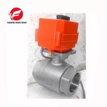 fermeture automatique ss304 CTF-001 10nm robinet à tournant sphérique motorisé