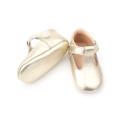 Pretty Gold T-Bar Shoes Chaussures habillées pour bébé fille