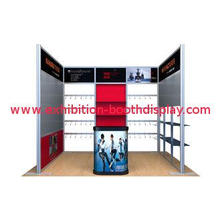 Portable Black 10x10 Booth Display , Lightweight Trade Show