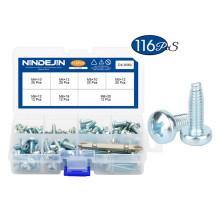 Carbon Steel Phillips Cross Recessed Pan Head Triangular Tooth Lock Thread Locking Screw Set M4 M5 M6 Self-tapping Screws