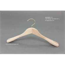 Lipu Made Wooden Plain Wooden Luxury Suit Clothes Hanger with Pants Clips