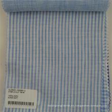tela de lino respirable profesional para la tela de lino de la raya de la camisa
