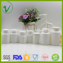 Frasco de plástico farmacêutico vazio de HDPE personalizado para embalagem de comprimidos