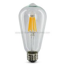 6.5W St64 220V COB LED bombilla de filamento