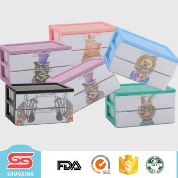 mini lovely multipurpose 2-layer desktop organizer with high quality plastic drawer