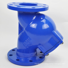 Y type strainer with ss screen cast iron body and flange connection