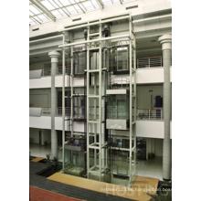Elevadores de observación sin cámara de la máquina con la pared llena de la cabina del vidrio