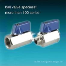 Rosca hembra-macho Mini válvula de bola de acero inoxidable 1000 wog
