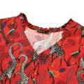 Hot selling new style printed summer chiffon long sleeve boho beach wear floral maxi dress