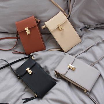 Bolso de cuero del caso del teléfono móvil de la moda mini