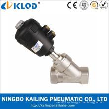 Pneumatic Power Cuerpo de acero inoxidable Angel valve