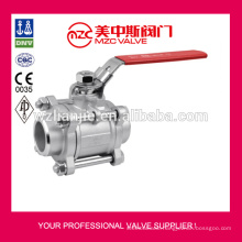 3PC Stainless Steel Ball Valves Butt Welding Ends 1000WOG Metal Sealing 3PC Ball Valves
