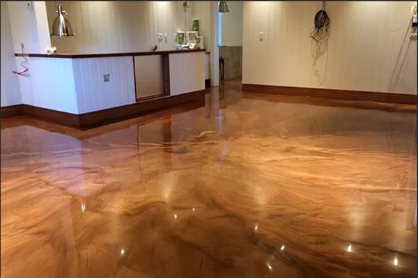 Pearl Metallic Epoxy Floor