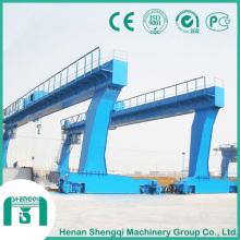 Grue à portique à poutre simple d'une capacité de 20 tonnes