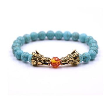 Natural Dragons in pursuit of pearls Gemstone Bracelet