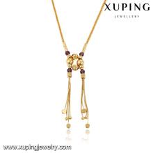43083-fabrik modeschmuck 18 karat gold afrikanische halskette perlenbesetzt