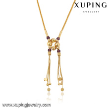 43083- Xuping Jewelry Fashion 18K Colar Banhado a Ouro Para Mulher