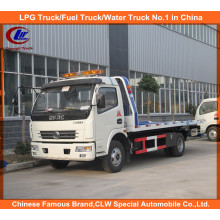 Dongfeng Flatbed Road Wrecker Towing Truck 5tons for Sale
