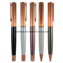 Caneta cobre Metal de fábrica preço ouro Rose com logotipo (LT-C450)