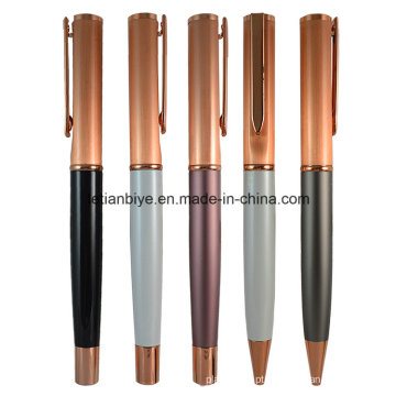 Preço de fábrica Prata de cobre do metal do ouro de Rosa com logotipo (LT-C450)