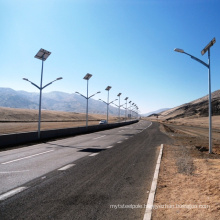 Big sale solar street lamp post hot dip galvanization steel with powder coating solar street light pole