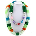New Coming Colorful Polyester Jewelry Scarf