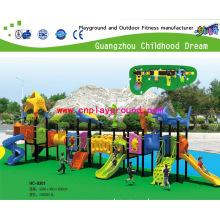 Amusement Park Outdoor Playground / Children Outdoor Play Equipment Set