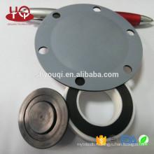 Подгонянные резиновые прокладки Белый силиконовый уплотнитель с огибающей поверхности с покрытием PTFE механически шайба