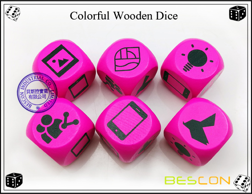 Colorful Wooden Dice