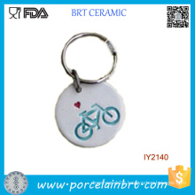 Adorable Simple Ceramic Key Chain Ornament