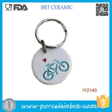 Adorable Simple Ceramic Key Chain Ornament