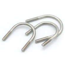 Customized 10mm 12mm u bolt pipe clamp stainless steel m6 m10 m12