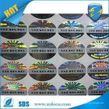 Autocollant de poisson laser anti-contrefaçon de haute qualité