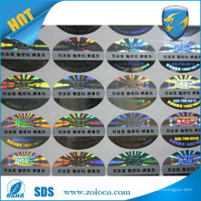high quality anti-counterfeit laser fish sticker