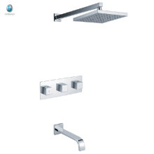 KI-07 modern bathroom wall mounted ceramic valve brass body chrome plated concealed shower set