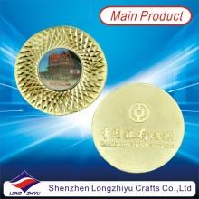 Gold Finishing Münze Epoxy Aufkleber Logo Münze für Souvenir (LZY1300014)