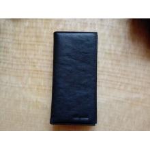 Proveedor de Guangzhou De moda de cuero genuino pasaporte tarjeta de bolso de la cartera para los hombres (Z-122)