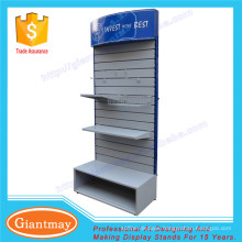 retail shop slat wall panel display rack stand