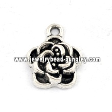 Flower shape jewelry alloy pendant necklace