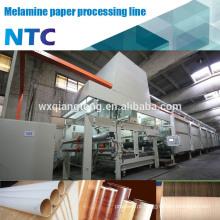 Linha de impregnação de papel / linha de processo de papel de melamina de decoração