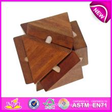 Cross Lock Jogos de madeira para crianças, brinquedo de madeira Toy de bloqueio de madeira para crianças, brinquedos educativos Toy de bloqueio de madeira para bebê W03b021