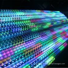 24V a mené la couleur changeant les lumières 3d dmx conduit le tube mené vertical 64leds 8pixels par mètre avec les connecteurs femelles / masculins