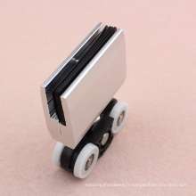 Fabricant fournir en aluminium pince porte coulissante roue plastique fabriqué en Chine