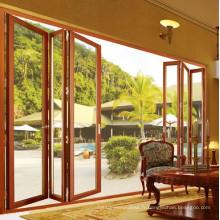 Porte en verre en aluminium porte vitrée double vitrage