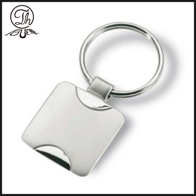 Euro coin trolley key chain holder