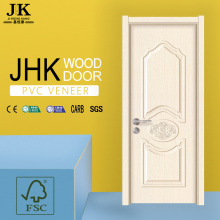 JHK-PVC Toilet Door Price PVC Coated Wood Door Bathroom Pvc Folding Door