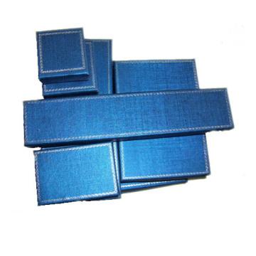 Fabricant de boîtes de papier à bijoux bleu foncé (série BX-BP-S)